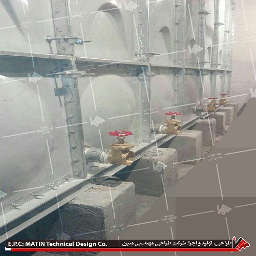 The Installation of 105 composite tank in Tehran has finished.